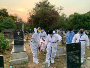 Distributing PPE kits in Bangalore